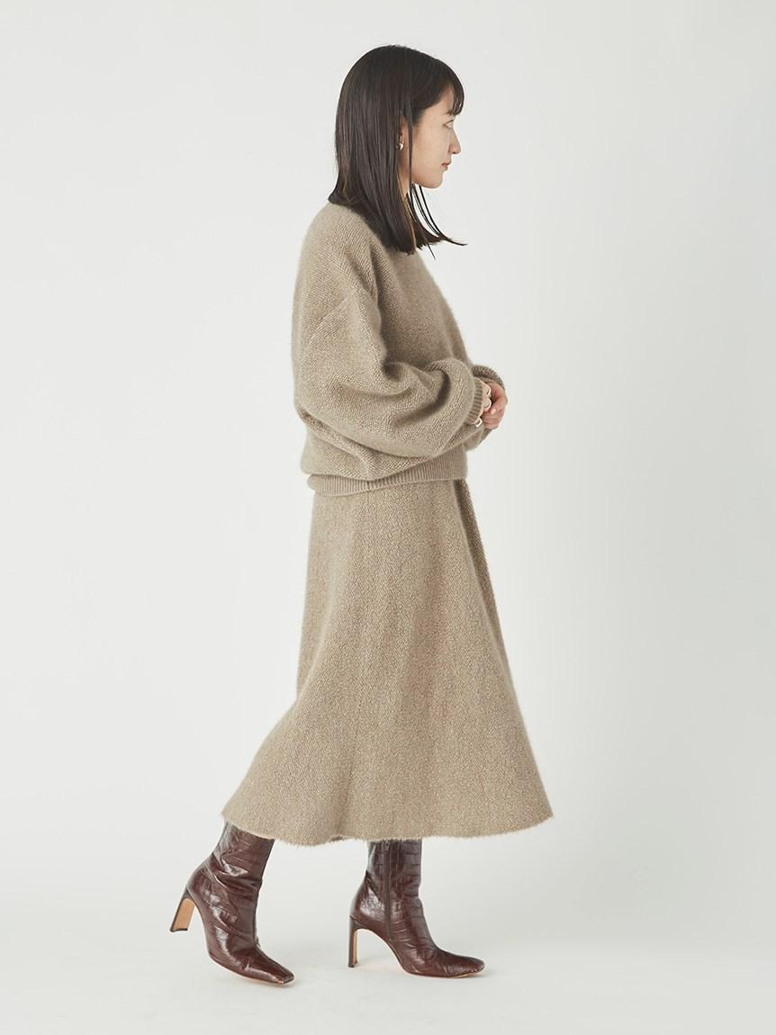 スレッドジャガードニットスカート   16WNS215040