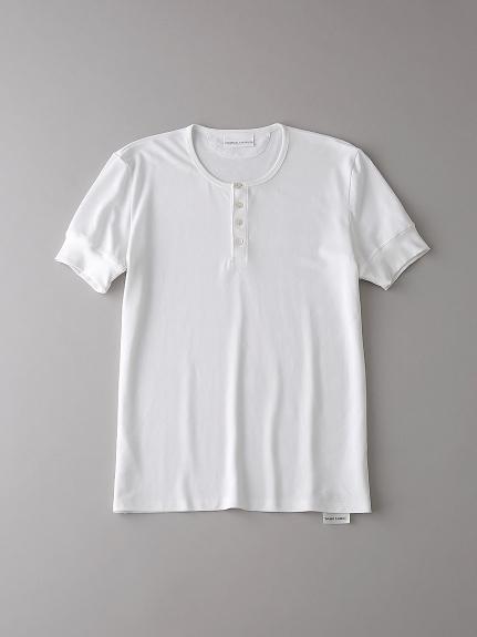ヘンリーネックTシャツ【メンズ】(WHT-0)