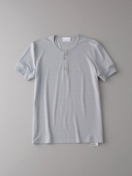 ヘンリーネックTシャツ【メンズ】(LGRY-0)