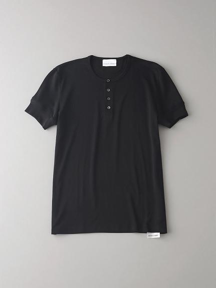 ヘンリーネックTシャツ【メンズ】(BLK-0)
