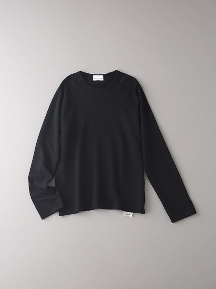 インレイ クルーネックスウェットロングスリーブ【メンズ】(BLK-0)