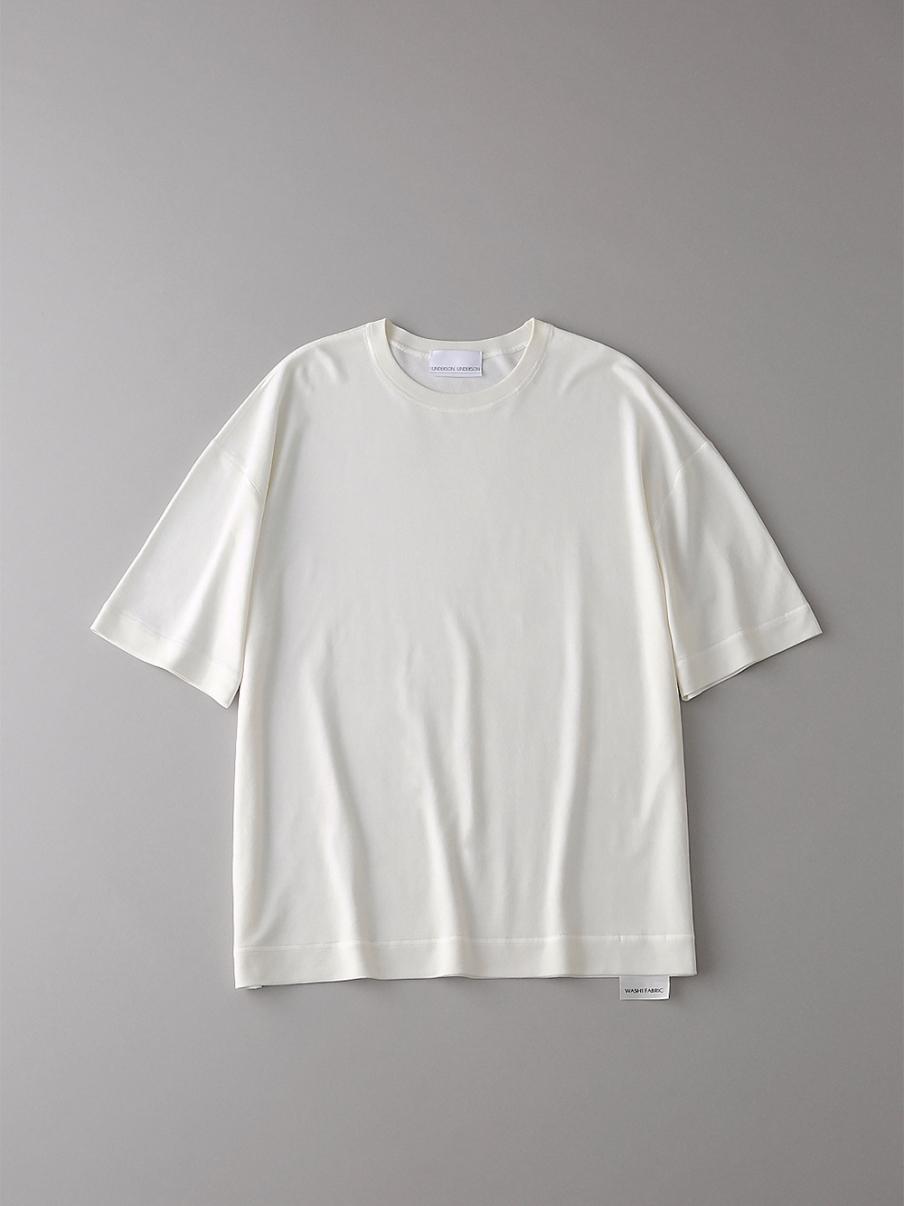 フラットシームドロップショルダーT【メンズ】(WHT-1)