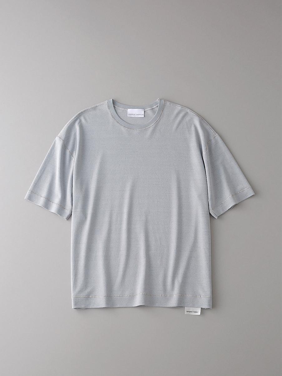 フラットシームドロップショルダーT【メンズ】(LGRY-1)
