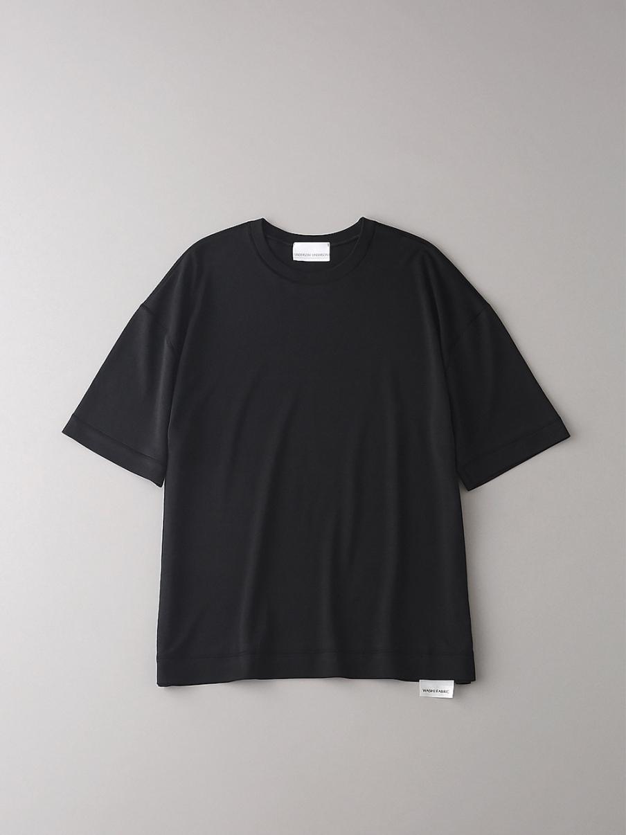 フラットシームドロップショルダーT【メンズ】(BLK-1)