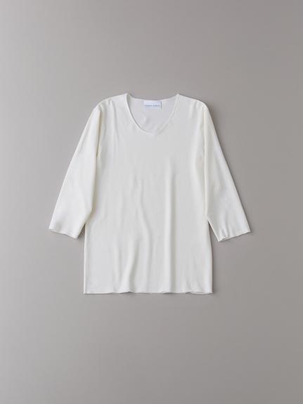 Uネック7分袖アンダーシャツ【メンズ】(NATURAL-0)