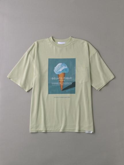 UNDERSON UNDERSON × GELATO PIQUE HOMME コラボメンズTシャツ(IVR-1)