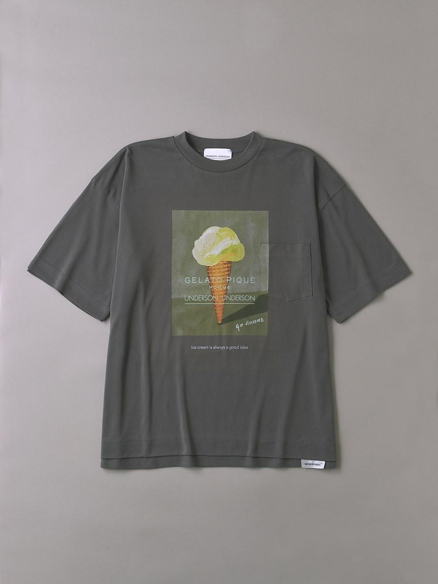 UNDERSON UNDERSON × GELATO PIQUE HOMME コラボメンズTシャツ(CGRY-1)