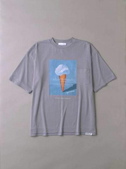 UNDERSON UNDERSON × GELATO PIQUE HOMME コラボメンズTシャツ(LILAC-1)