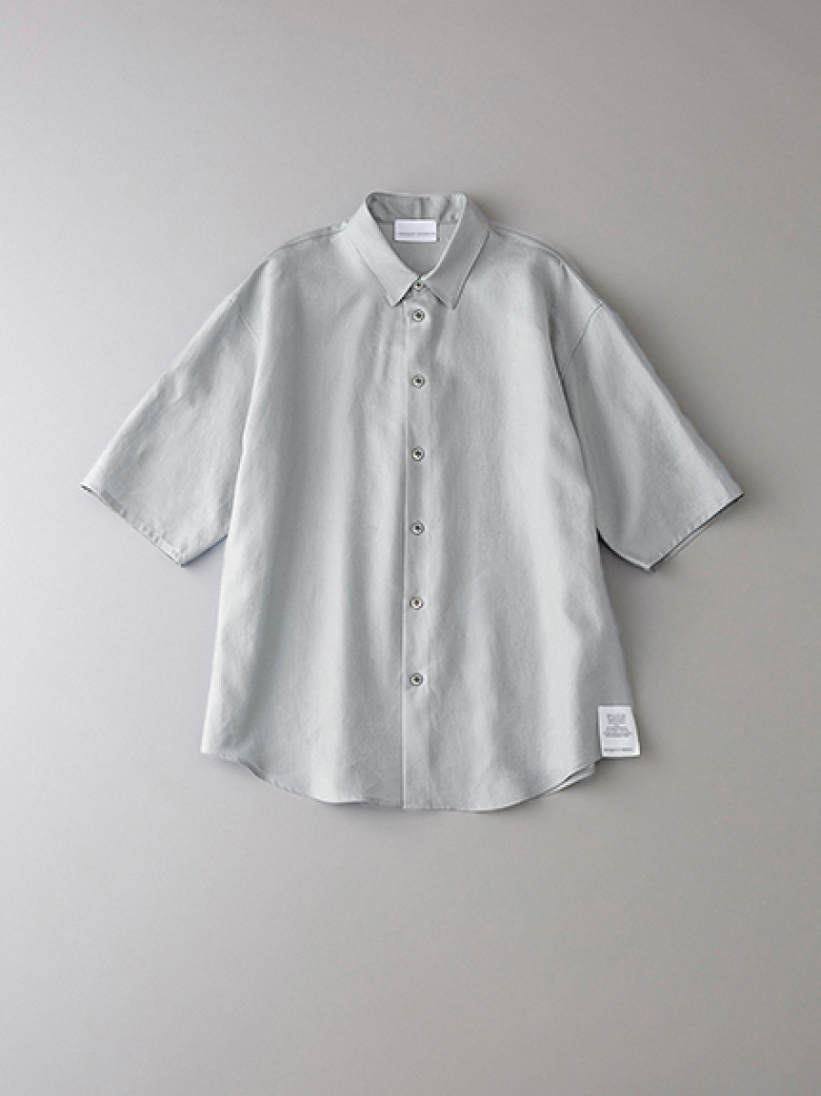 ボタニカル パジャマショートスリーブシャツ【メンズ】(LGRY-1)