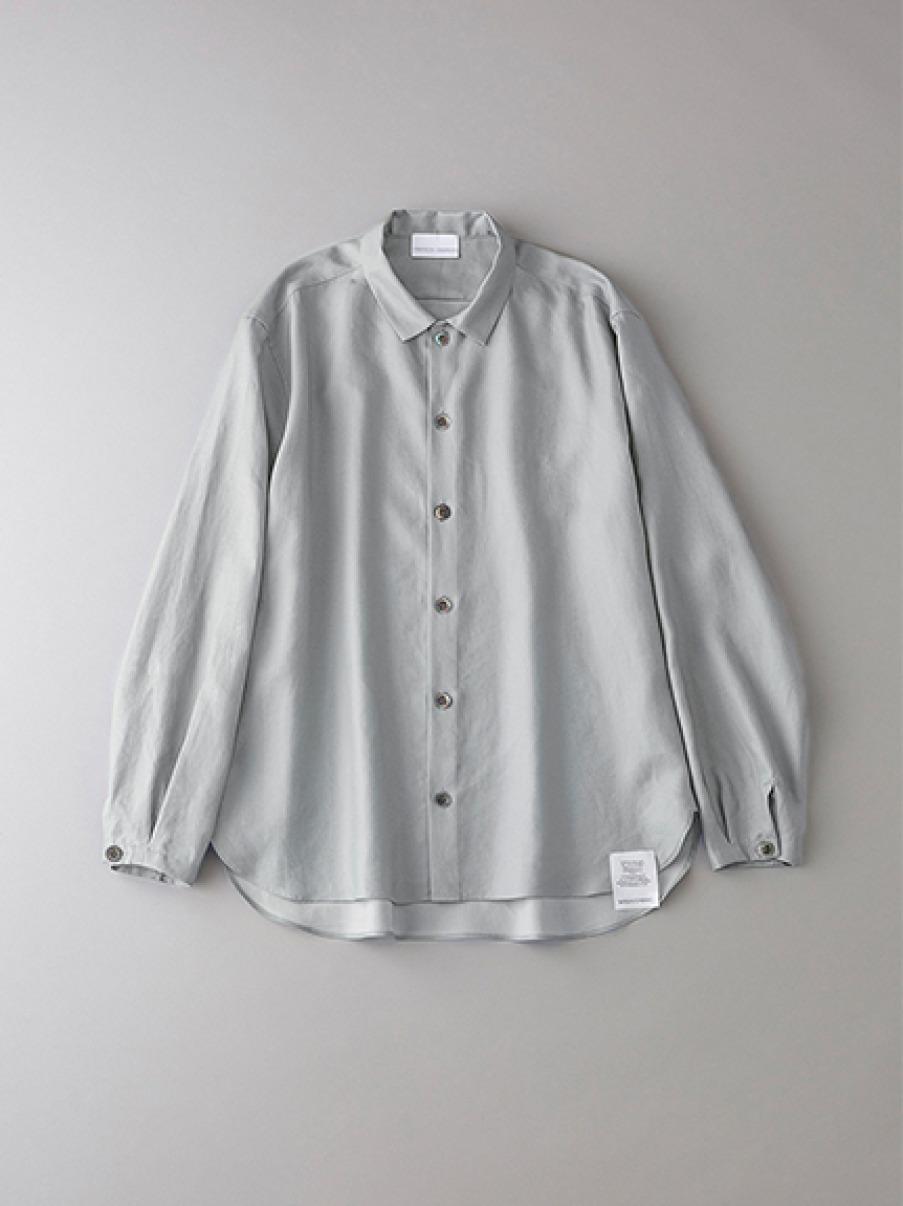 ボタニカル ダブルクロスシャツ【メンズ】(LGRY-1)