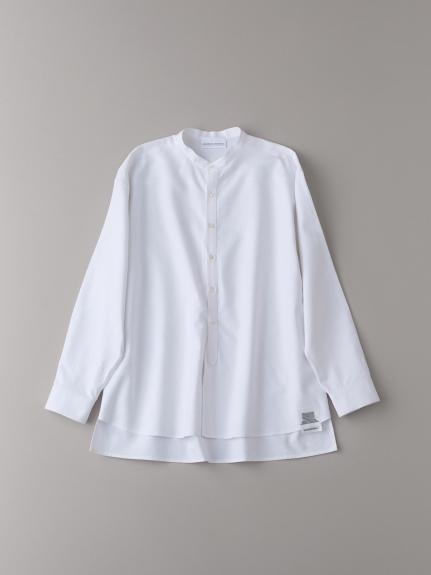 バンドカラーシャツ【メンズ】(WHT-1)