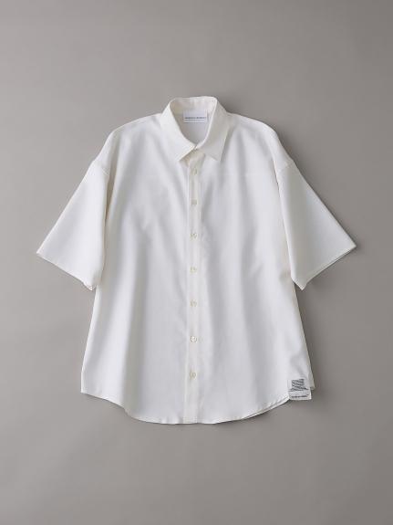 ダブルクロスショートスリーブシャツ【メンズ】(WHT-1)