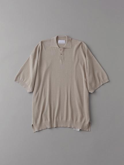 ニットポロシャツ【メンズ】(BEG-1)