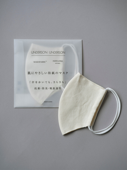 UNDERSON UNDERSONオリジナル和紙マスク(NATURAL-F)