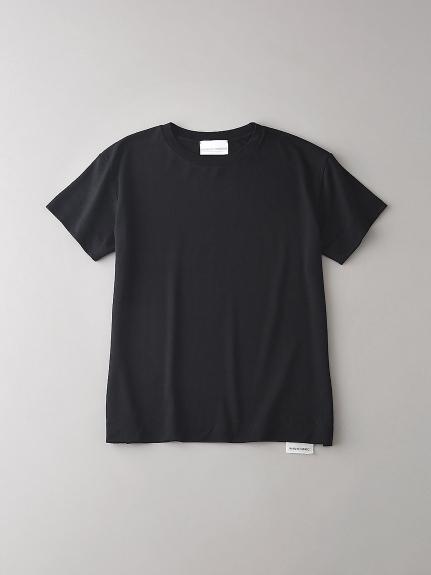 ドロップショルダー クルーネックTシャツ【ウィメンズ】(BLK-0)