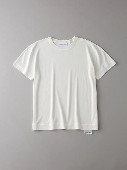 ソフトシームドロップショルダーTシャツ【ウィメンズ】(WHT-0)
