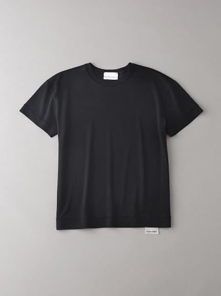 ソフトシームドロップショルダーTシャツ【ウィメンズ】(BLK-0)