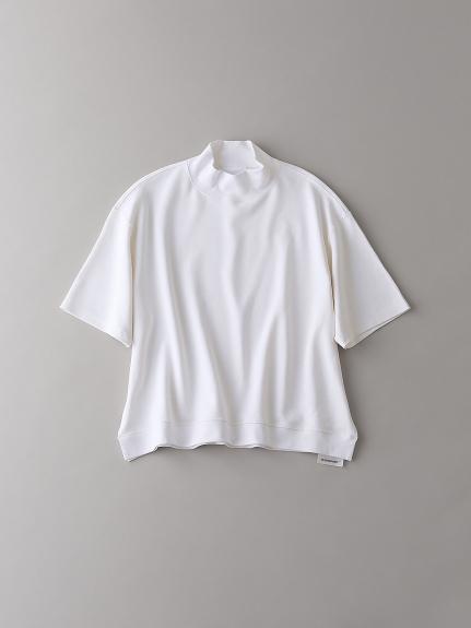 モックネックTシャツ【ウィメンズ】(WHT-1)