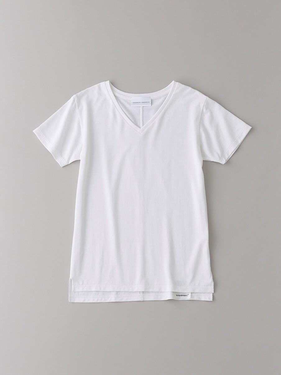 ベーシックVネックTシャツ【ウィメンズ】(WHT-0)