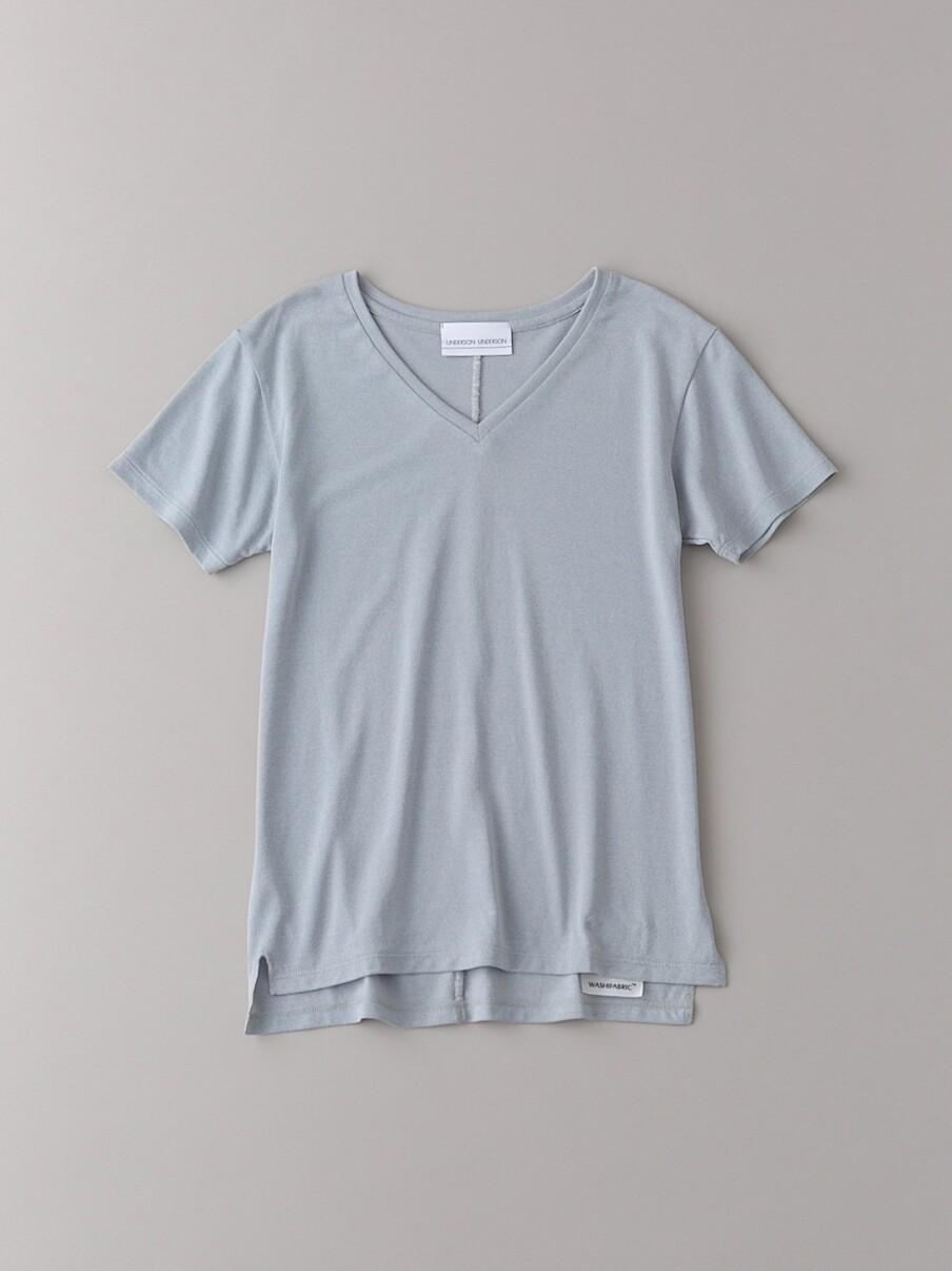 ベーシックVネックTシャツ【ウィメンズ】(LGRY-0)