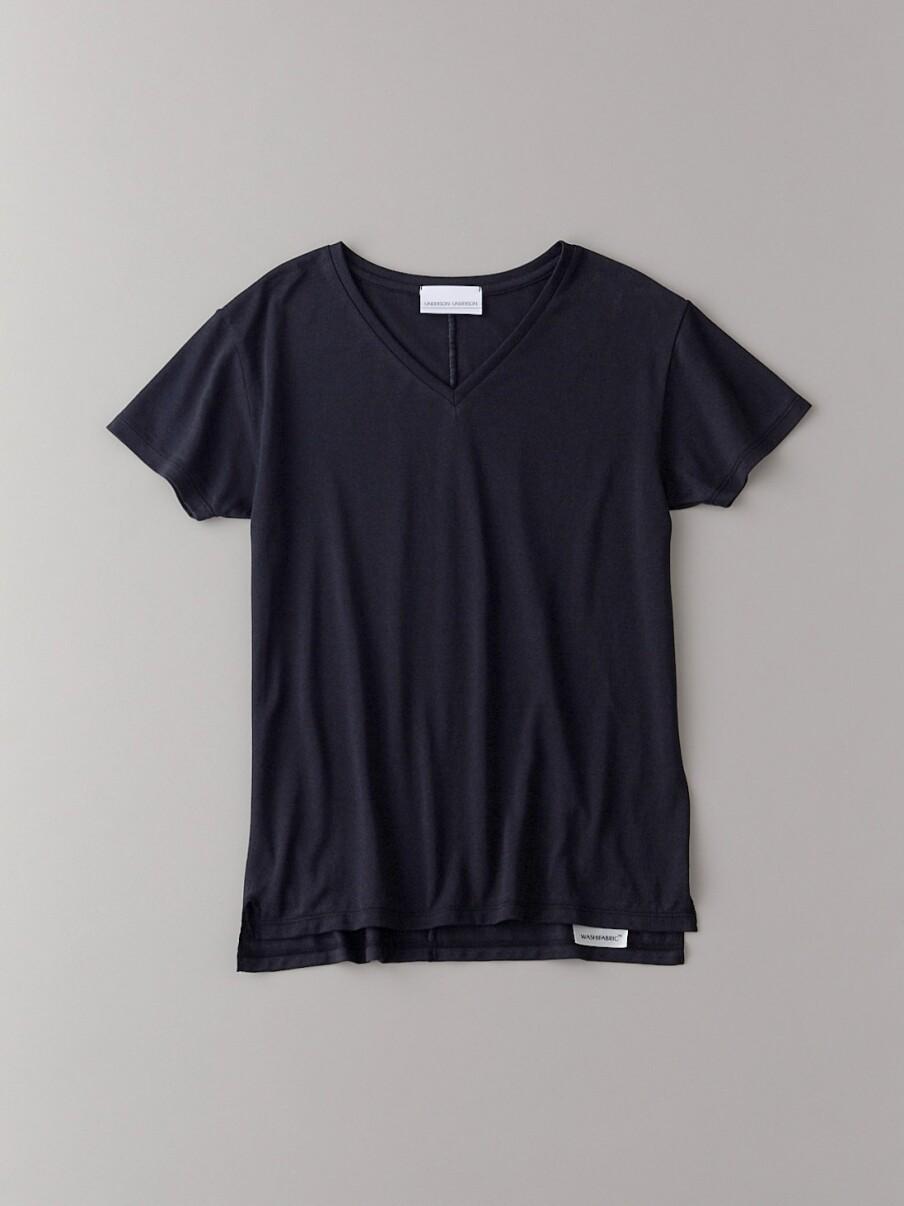 ベーシックVネックTシャツ【ウィメンズ】(BLK-0)