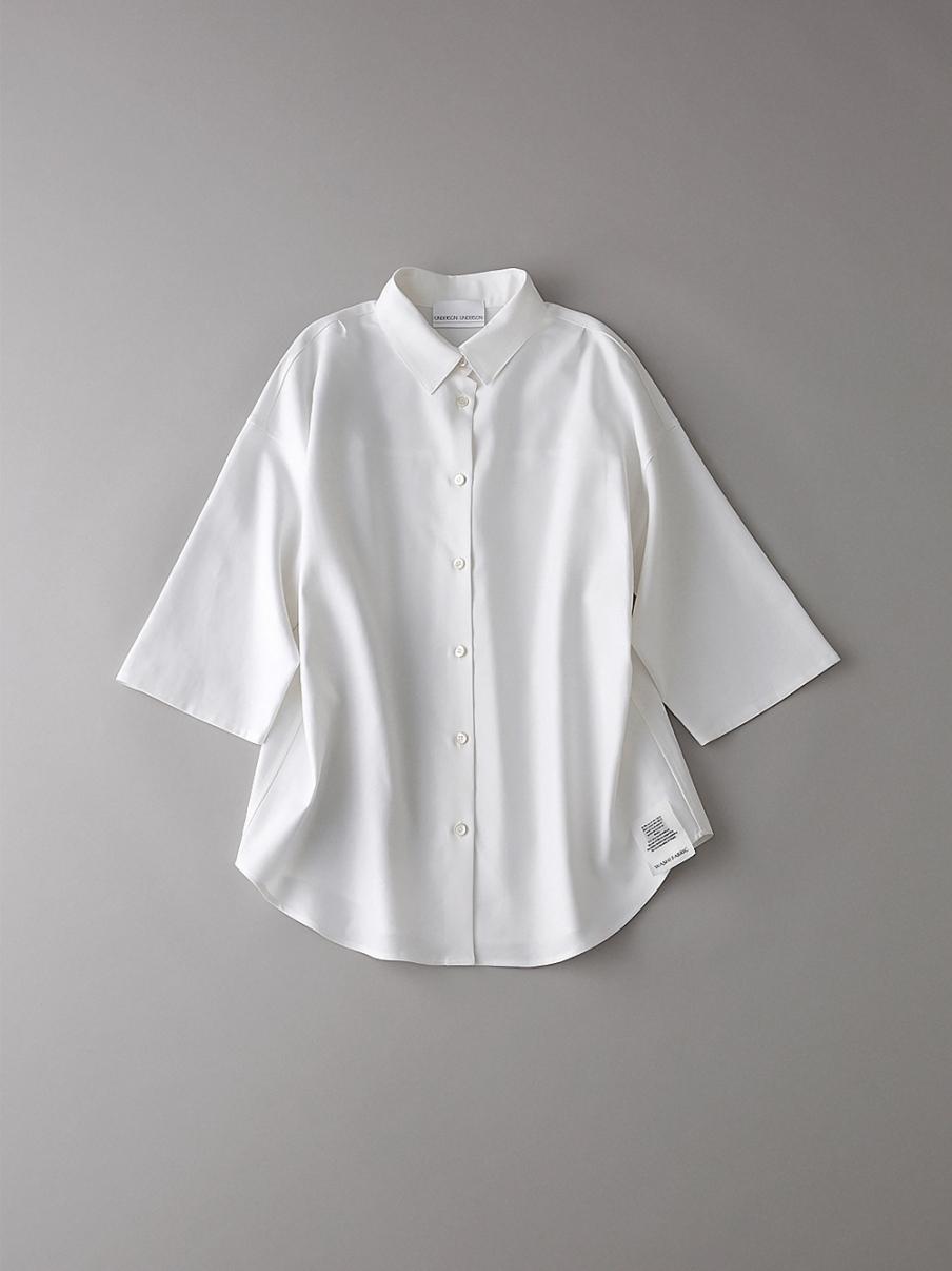 ダブルクロスショートスリーブシャツ【ウィメンズ】(WHT-0)