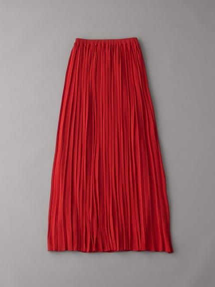 ニットプリーツスカート(RED-F)