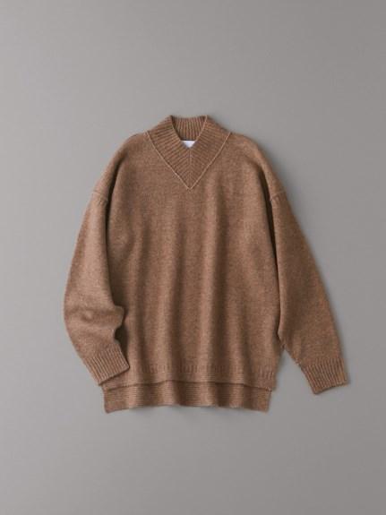 Vハイネックセーター【ウィメンズ】(BEG-1)